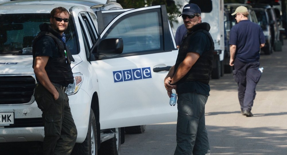 Observers of the Organization for Security and Co-operation in Europe (OSCE) have detected two new convoys near Donetsk