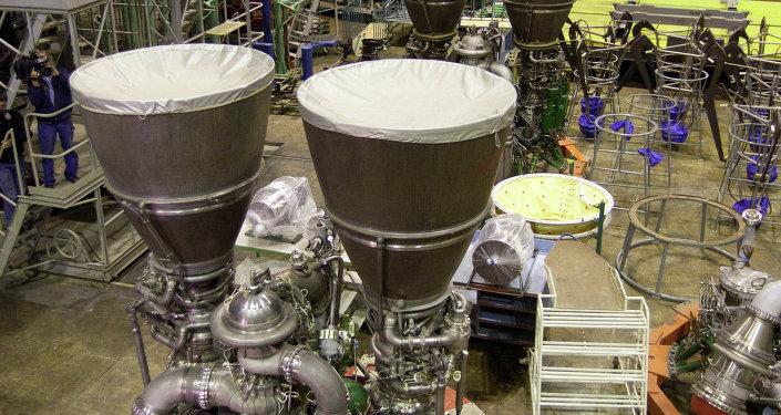 RD-180 rocket engine assembled at Energomash
