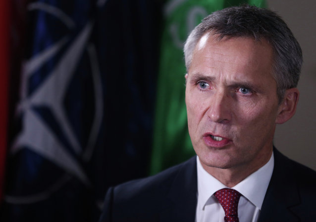 NATO Secretary-General Jens Stoltenberg speaks during an interview with The Associated Press in Kabul, Afghanistan, Thursday, Nov. 6, 2014