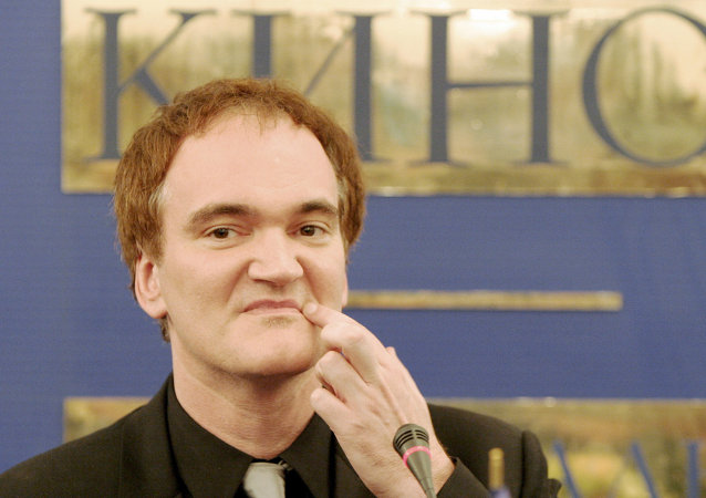 Quentin Tarantino attends press conference