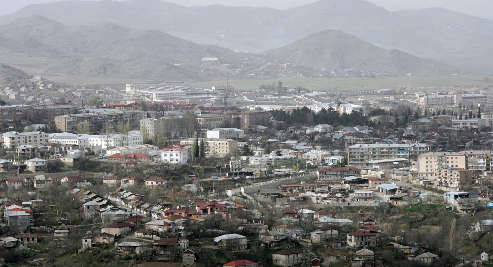 Stepanakert, the capital of the Nagorno-Karabakh Republic