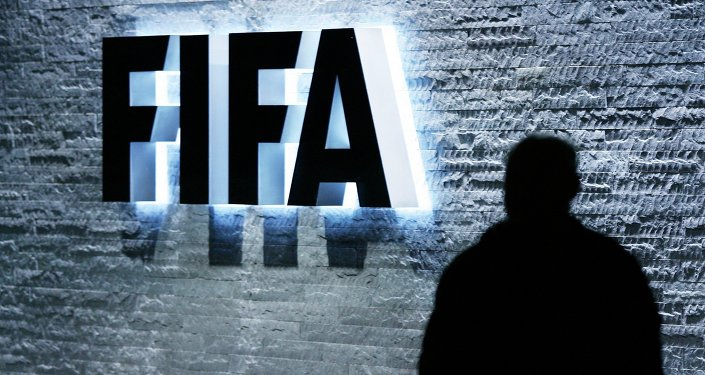 The FIFA logo at the headquarters Zurich, Switzerland, on Monday Oct. 29, 2007
