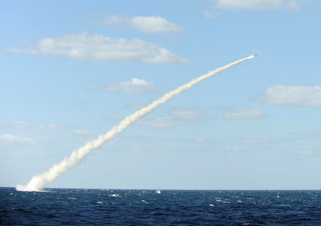South Korean sea-to-land cruise missile is fired from a submarine during a drill
