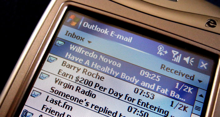 Email on a mobilephone