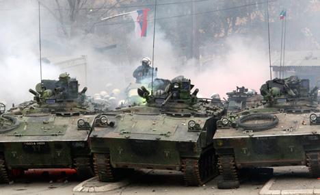 Violence in Kosovska Mitrovica