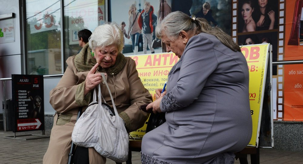 The Kiev authorities are committing a war crime by withholding payments to eastern Ukraine pensioners.