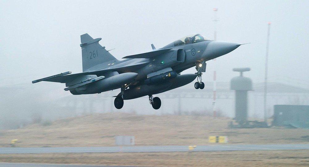 Swedish Air Force's JAS 39 Gripen jet fighter aircraft