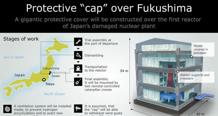 """Protective """"cap"""" over Fukushima"""