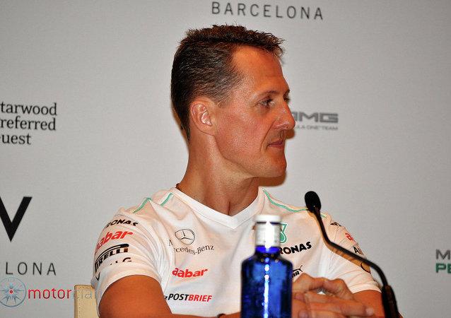 Michael Schumacher rueda prensa Barcelona