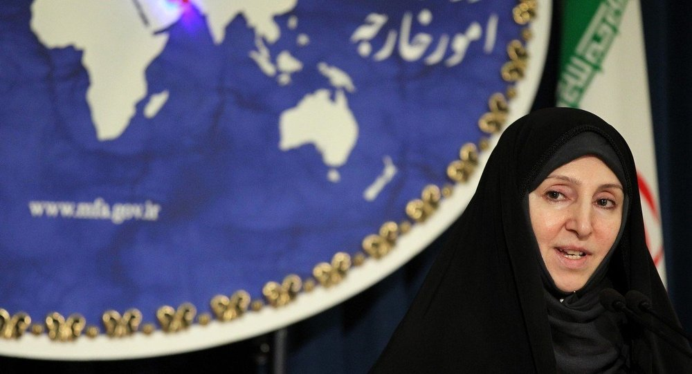 Iranian spokeswoman of the foreign ministry, Marzieh Afkham