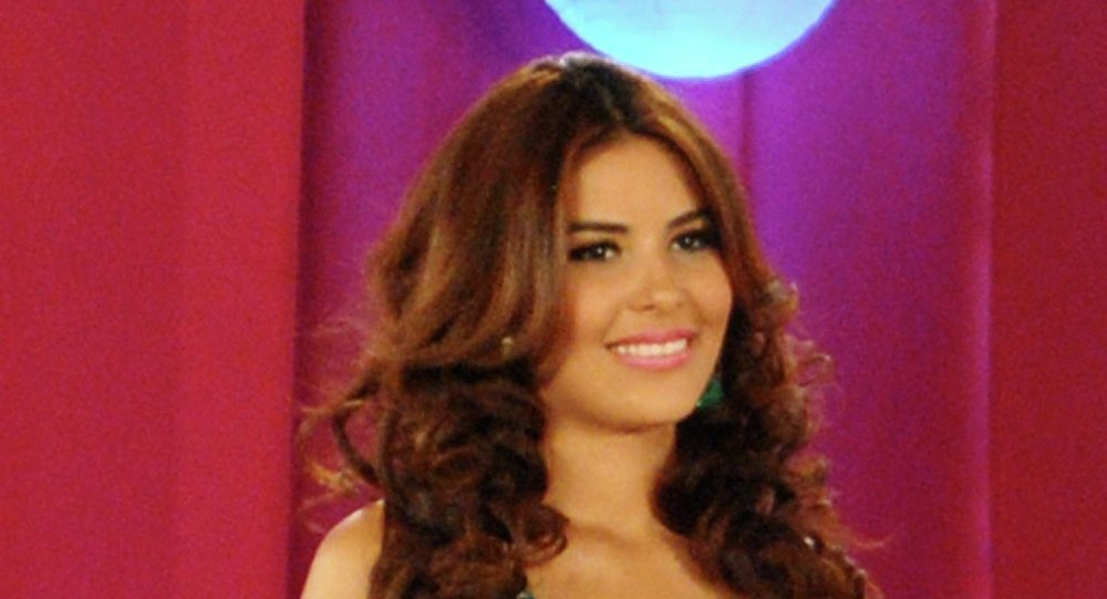 Maria Jose Alvarado participates in a beauty contest in San Pedro Sula