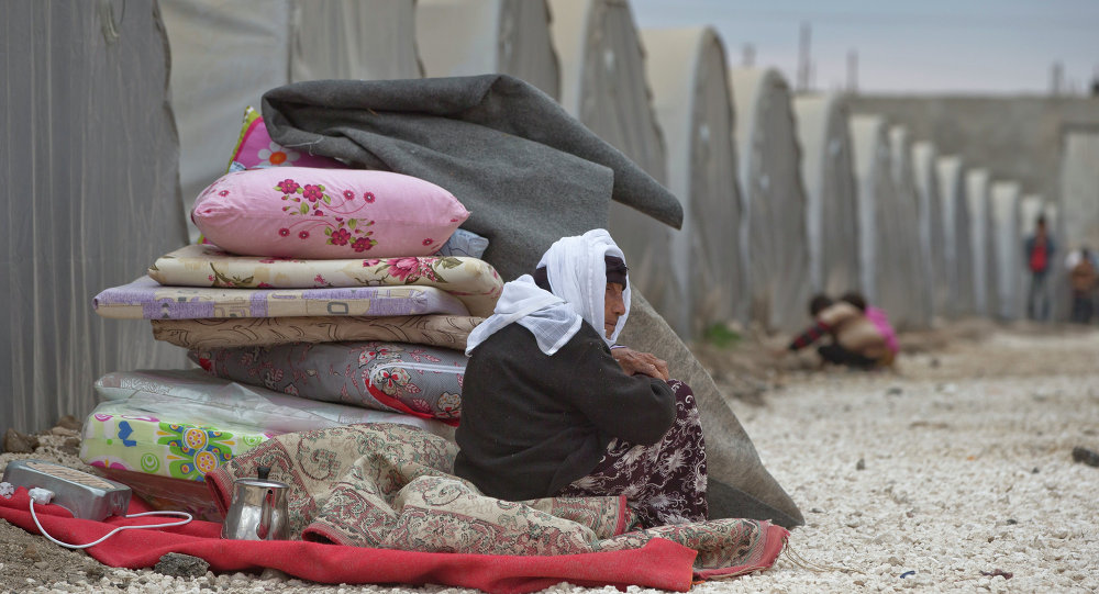 A Syrian Kurdish refugee woman
