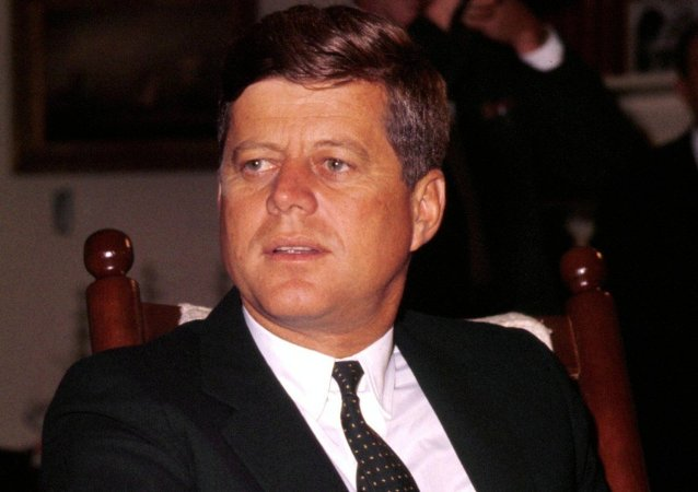 John Fitzgerald Kennedy (May 29, 1917 - November 22, 1963), 35th President of the United States, serving from 1961 until his assassination in 1963