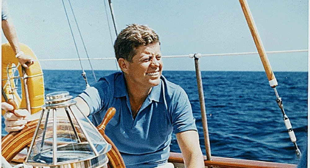 President John F. Kennedy goes sailing