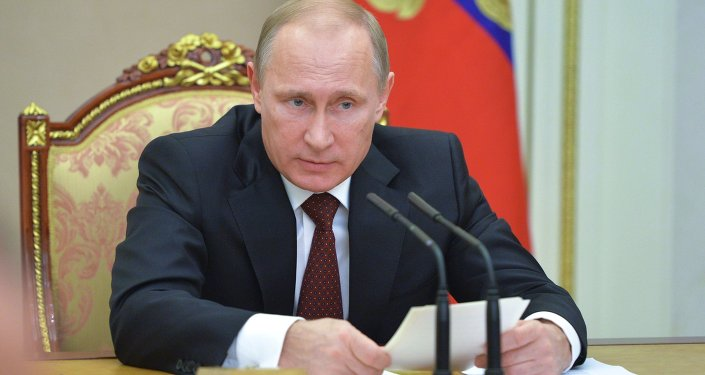 Vladimir Putin conducts Russian Security Council meeting