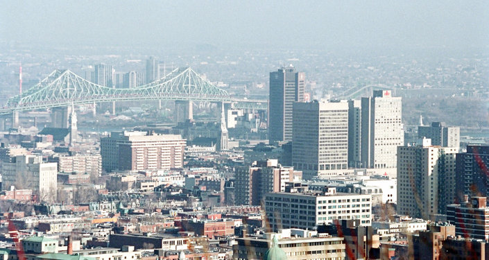 Panoramic view of Montreal, Canada