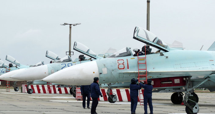 These Sukhoi Su-27 SM Flanker fighters will serve with the 62nd Fighter Regiment of the 27th Combined Air Division of the Russian Air Force at Belbek airfield near Sevastopol.