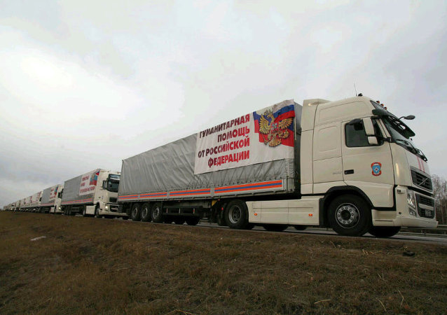 Then eighth humanitarian aid convoy for Donbass driveslong M4 highway