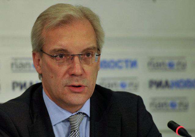 Пресс-конференция заместителя министра иностранных дел РФ Александра Грушко