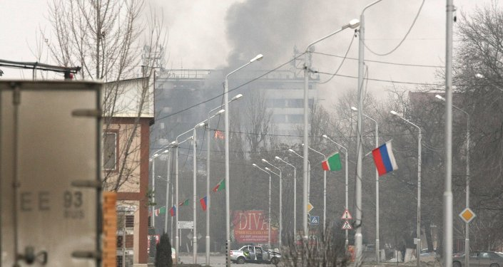 Counter-terrorism operation at Press House in Grozny