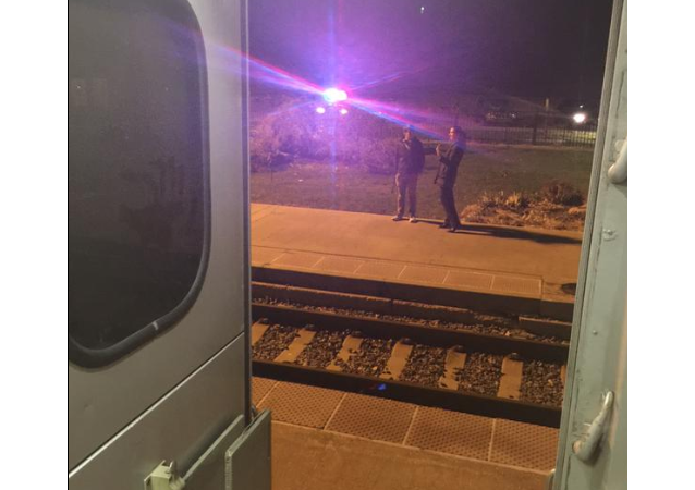 Crazy world we live in. Some man just stabbed 4 people one car away from me on the train  -- Chris Maynard via Twitter