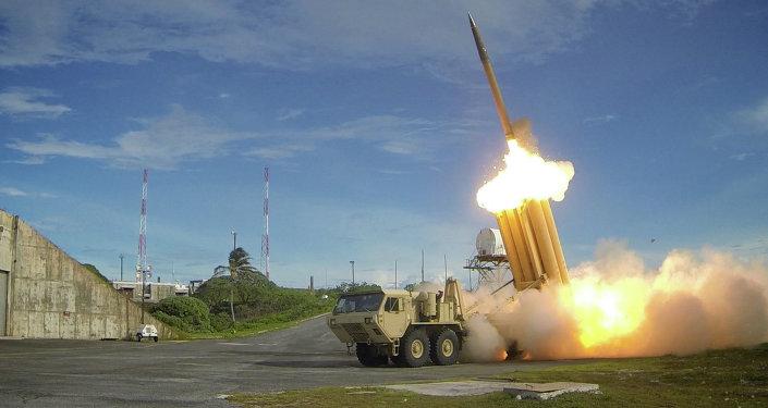 The US Army's Terminal High Altitude Area Defense (THAAD) interceptor
