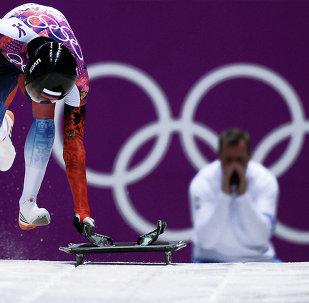 2014 Winter Olympics. Skeleton. Men. Day One