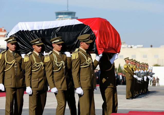 Palestinian honor guards