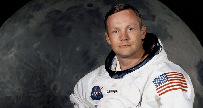 Neil Armstrong, the first human being to set foot on the moon