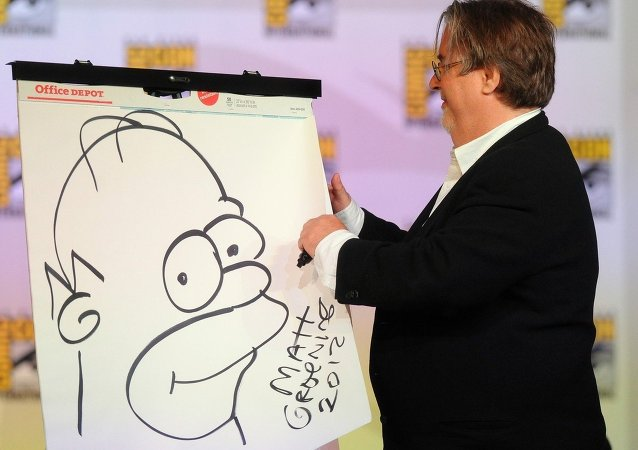 Matt Groening participates in FOX's The Simpsons panel at Comic-Con International 2012 at the San Diego Convention Center in San Diego, California
