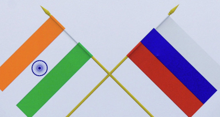 Flags, India and Russia