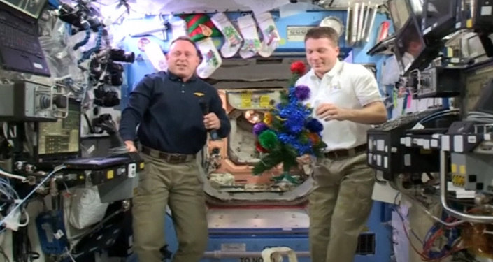 NASA Astronauts From ISS Wish World Merry Christmas and Happy New Year
