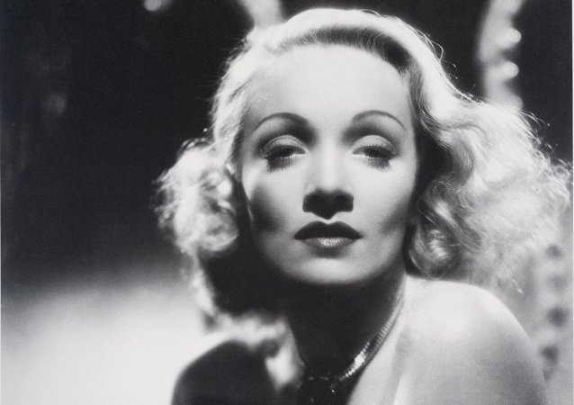 The movie actress Marlene Dietrich