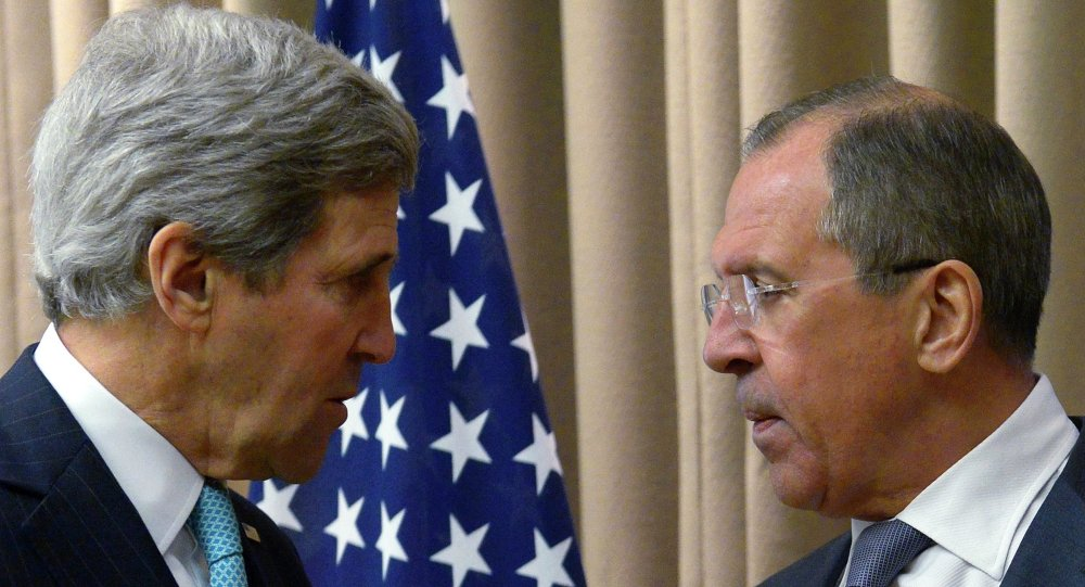 US Secretary of State John Kerry told Russian Foreign Minister Sergei Lavrov to ignore US President Barack Obama's statement when the president listed Russia as one of the main threats to the world on par with terrorism and the Ebola virus.