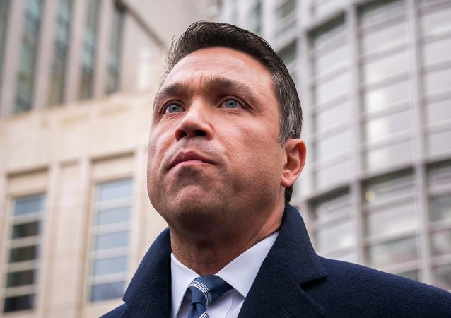U.S. Representative Michael Grimm of New York is photographed ahead of a news conference following his guilty plea at the Brooklyn federal court in New York in this December 23, 2014