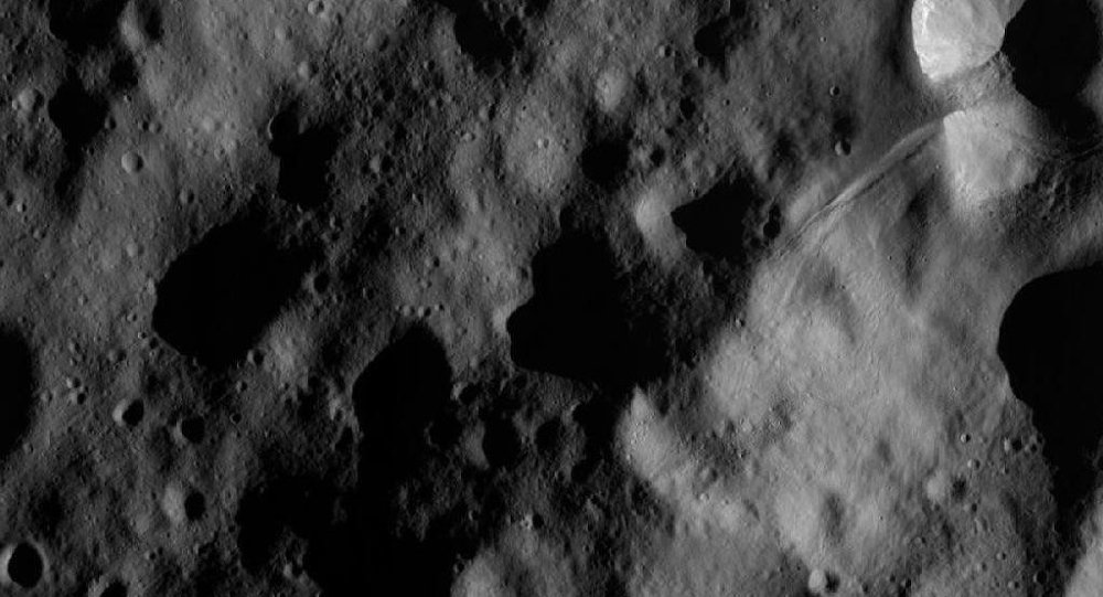 A picture of the giant Vesta asteroid taken by Dawn in November 2012.