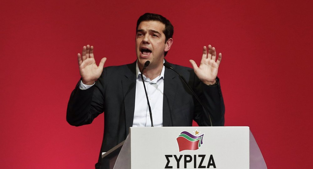 Alexis Tsipras, opposition leader and head of radical leftist Syriza party