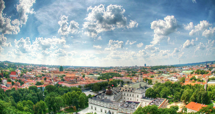A view of Vilnius from the top of Gediminas Tower, the only remaining part of the Upper Castle.