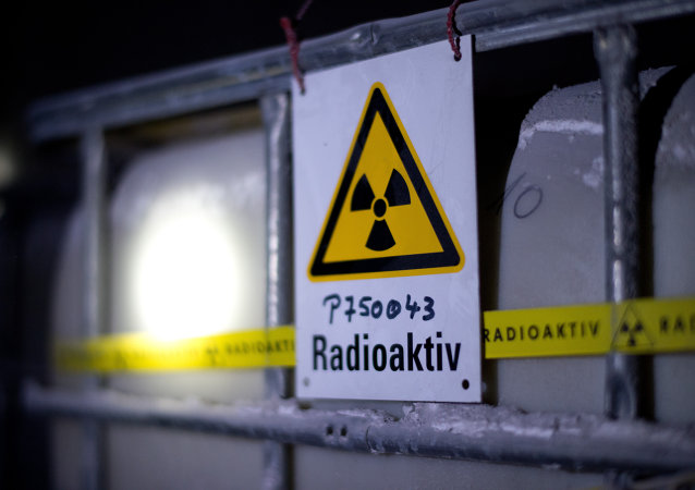 A tank containing radioactive water