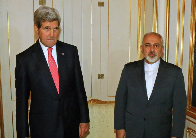 John Kerry and Iranian Foreign Minister Mohammad Javad Zarif