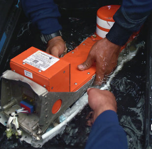 The FDR (Flight Data Recorder) of the AirAsia flight QZ8501