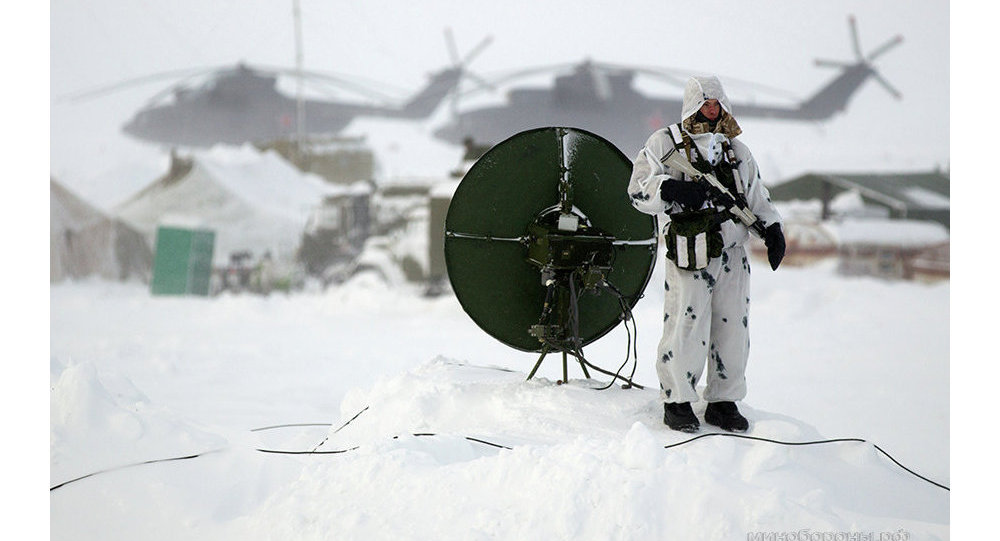 Russian soldier in the Arctic.