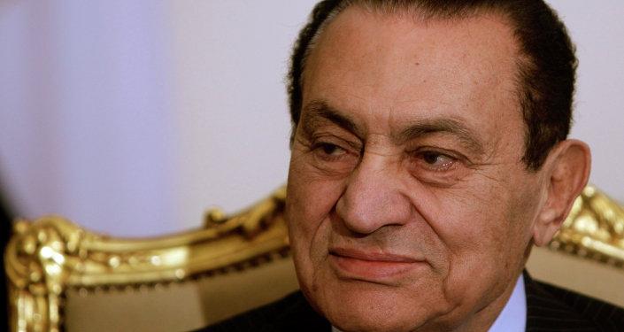 Former Egyptian president Hosni Mubarak