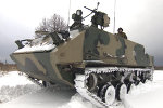 Russian Military Tests Rakushka APC in Snow Drills Near Tula