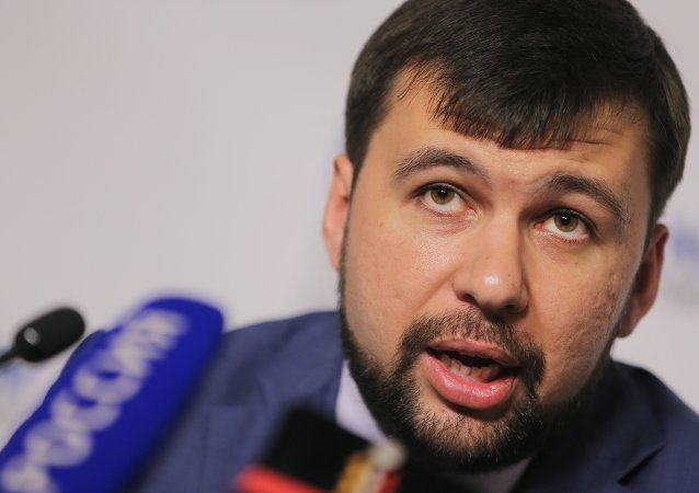 Donetsk People's Republic (DPR) envoy at the talks Denis Pushilin