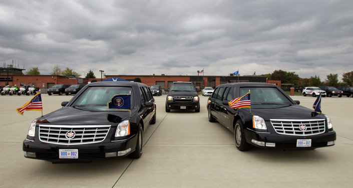 President Barack Obama limousine park at Andrews Air Force Base, Md., on Saturday, Nov. 1, 2014