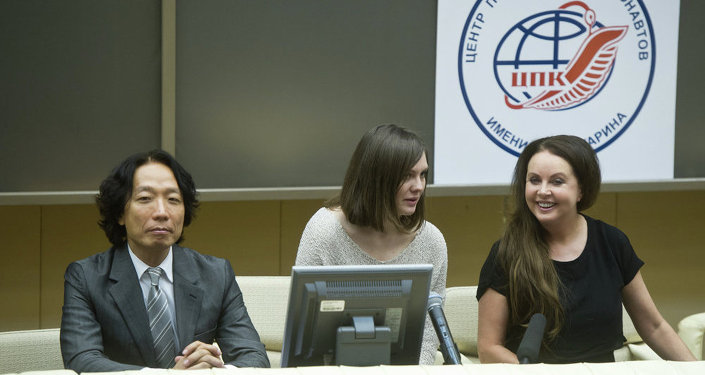 Sarah Brightman spoke about her future 10-day journey to space later this year during a press conference at Gagarin Research and Test Cosmonaut Training Center in Star City, Moscow Region.