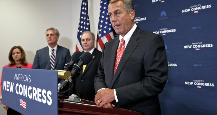 On the morning after President Barack Obama's State of the Union speech, House Speaker John Boehner of Ohio, tells reporters that he has asked Israeli Prime Minister Benjamin Netanyahu to address Congress on dealing with terrorism but that he did not consult the White House on the invitation, Wednesday, Jan. 21, 2015, on Capitol Hill in Washington