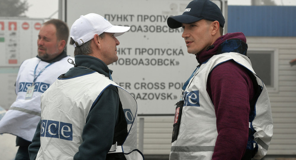 OSCE based at two checkpoints at the Russian-Ukrainian border reported no movement of military equipment