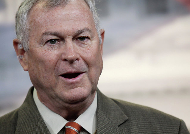 Rep. Dana Rohrabacher, R-Calif. speaks during a news conference